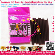 12pcs High Quality Heat Resistant Keratin Fusion Glue Stick to making Fusion Hair Extensions Arts Crafts -Dark Brown