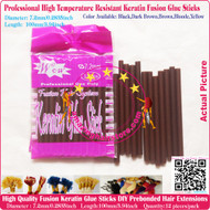 12pcs High Quality Heat Resistant Keratin Fusion Glue Stick to making Fusion Hair Extensions Arts Crafts -Brown