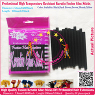 12pcs High Quality Heat Resistant Keratin Fusion Glue Stick to making Fusion Hair Extensions Arts Crafts -Black