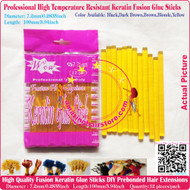 12pcs High Quality Heat Resistant Keratin Fusion Glue Stick to making Fusion Hair Extensions Arts Crafts -Blonde