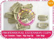 Snap Extension Clips for Clip Hair Extensions,Wigs,Toupee-Beige