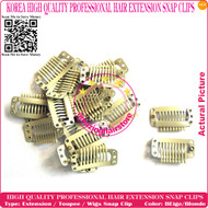 High Quality Durable use Snap Extension Clips for Clip Hair Extensions,Wigs,Toupee-Beige