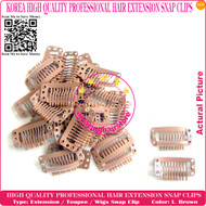 High Quality Durable use Snap Extension Clips for Clip Hair Extensions,Wigs,Toupee-M.Brown