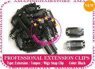 Snap Extension Clips for Clip Hair Extensions,Wigs,Toupee-Black