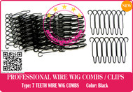 224 Pieces 7 TEETH SMALL SECURITY WIRE WIG COMBS / LACE FRONT HAIR WIG-HAIRPIECE-TOUPEE