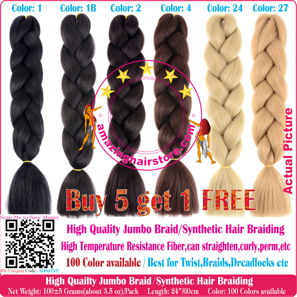 e1be152511 Color A1~A40 of 100 Colors High Quality Braiding Hair 24 inch Jumbo ...