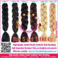 Color A1~A40 of 100 Colors High Quality Braiding Hair 24 inch Jumbo Braids Ombre Synthetic Fiber Hair Extensions-FREE Shipping