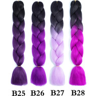 Color B1~B50  of 100 Colors High Quality Braiding Hair 24 inch Jumbo Braids Ombre Synthetic Fiber Hair Extensions-FREE Shipping