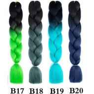 Color No B1~B50  of 100 Colors High Quality Braiding Hair 24 inch Jumbo Braids Ombre Synthetic Fiber Hair Extensions-FREE Shipping
