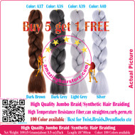 The Colors: A1~A40 of 100 Colors High Quality Braiding Hair 24 inch Jumbo Braids Ombre Synthetic Fiber Hair Extensions-FREE Shipping