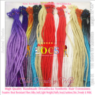 "25 pieces CUSTOM MADE Color A1~T60 of 100 Colors High Quality 20""-24"" Ombre Dreadlocks Synthetic Fiber Hair Extensions-FREE Shipping"