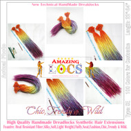 "5 pieces CUSTOM MADE Color A1~T60 of 100 Colors High Quality 20""-24"" Ombre Dreadlocks Synthetic Fiber Hair Extensions-FREE Shipping"