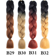 Color B1-B50  of 120 Colors High Quality Braiding Hair 24 inch Jumbo Braids Ombre Synthetic Fiber Hair Extensions-FREE Shipping