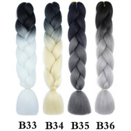 Color B1~B50  of 120 Colors High Quality Braiding Hair 24 inch Jumbo Braids Ombre Synthetic Fiber Hair Extensions-FREE Shipping