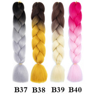 120 Colors Color B1~B50  of  High Quality Braiding Hair 24 inch Jumbo Braids Ombre Synthetic Fiber Hair Extensions-FREE Shipping