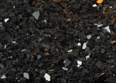 Decorative Crushed Glass Black Polished DG1BKP