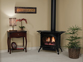 DVP20CC30B PORCELAIN BLACK  DIRECT VENT CAST IRON STOVE  MILLIVOLT SMALL