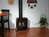 DVP30CC30M  PORCELAIN MAHOGANY  DIRECT VENT CAST IRON STOVE  MILLIVOLT (MEDIUM)