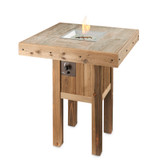 Westport Pub Height Square Gas Fire Pit Table