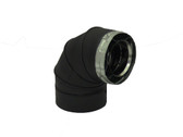 90 DEGREE SWIVEL ELBOW - BLACK  4D90LB
