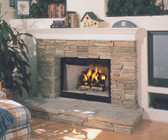 "WRT2036WS 36"" RADIANT WOOD BURNING FIREPLACE W/ WHITE STACKED LINER"