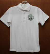 Adult Short Sleeve Polo with Logo- De La Salle