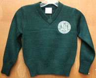 Adult V-Neck Pullover Sweater- De La Salle