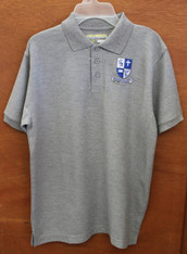 Youth Grey Polo (K-4)  Guardian Angel