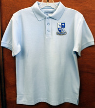 Adult Light Blue Polo (5th-8th)  Guardian Angel
