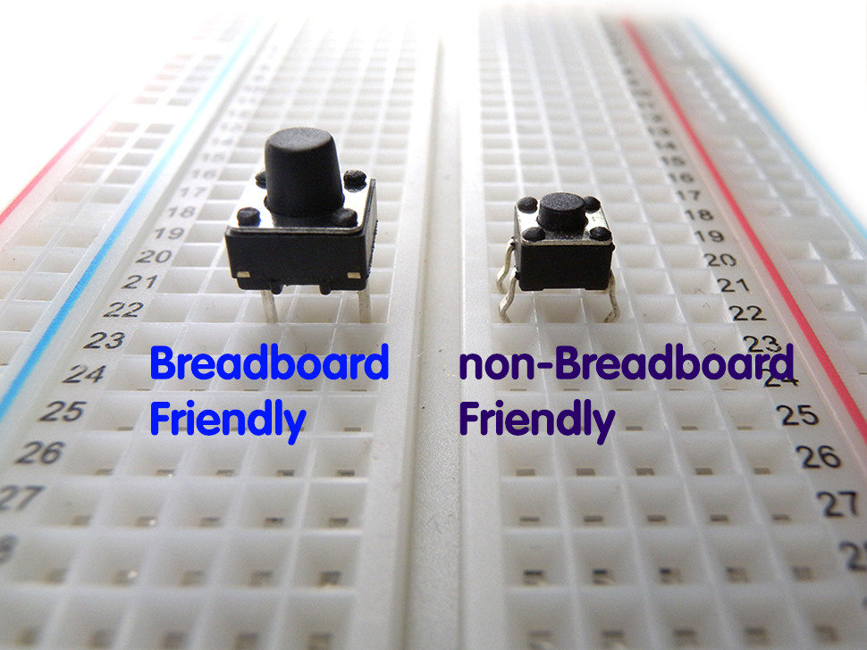 2 Pin Tactile Switch Breadboard Friendly 10 Pack