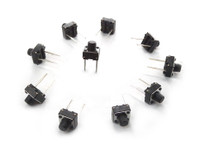 6mm 2pin Through Hole Tactile Switch x 10 pack