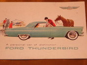 1955 Ford Thunderbird brochure catalog