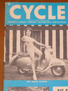 1959 BMW R60 , Busty pin up girl cover art