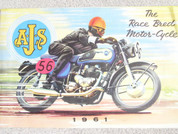 1961 AJS motorcycle sales brochure catalog  poster