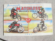 1961 Matchless full model line opens into poster