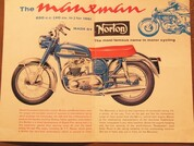 1961 Norton 650 Manxman motorcycle