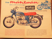 1961 Norton 650 Manxman motorcycle