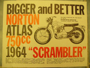 1964 Norton sales brochure catalog