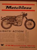 1965 Matchless 500 G80Cs 1965 Matchless 650 G12CSR