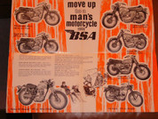 1966 BSA full line brochure catalog