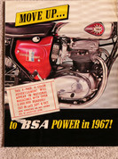 1967 BSA brochure sales catalog RARE distrib. version