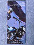 1969 Harley Sprint 350 Aermacchi brochure catalog