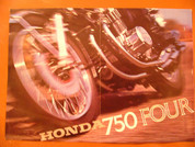 1969 Honda 750 sand cast brochure catalog