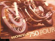 1970 Honda 750 sales brochure catalog poster