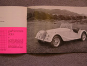 1970 Morgan sales brochure catalog +8 & 4/4