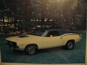 1970 Plymouth Barracuda Hemi Cuda poster