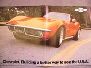 1972 Corvette sales brochure catalog poster