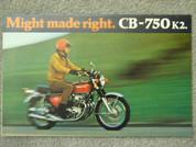 1972 Honda CB 750 K2 brochure catalog