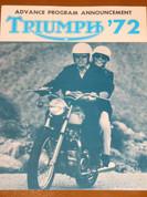 1972 Triumph Gene Romero brochure catalog