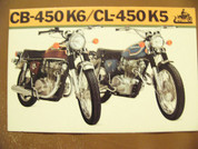 1973 Honda CB450 K6  CL-450 K5 brochure catalog